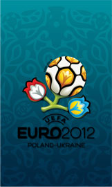 Euro 2012 wallpaper for smartphone, blue, 480 x 800