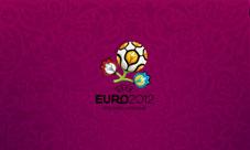 Обои Euro 2012 для коммуникатора, лиловые, 800 x 480