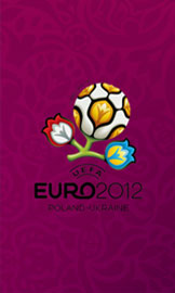 Euro 2012 wallpaper for smartphone, purple, 480 x 800