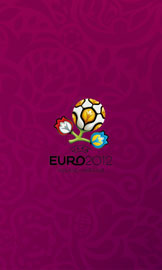 Euro 2012 wallpaper for smartphone, purple, small logo in the center, 800 x 480