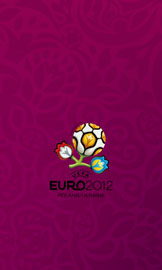 Euro 2012 wallpaper for smartphone, purple, small logo, 480 x 800